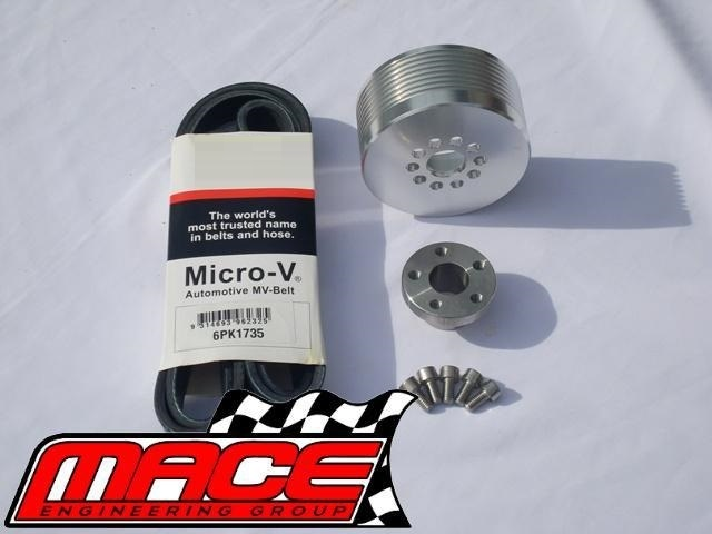 9PSI - 11PSI BOOST PULLEY UPGRADE KIT WITH BELT TO SUIT HOLDEN L67  SUPERCHARGED V6