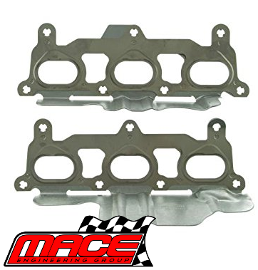 MACE EXHAUST MANIFOLD GASKET SET TO SUIT HOLDEN COMMODORE VZ VE VF ALLOYTEC  LY7 LE0 LW2 LWR 3 6L V6
