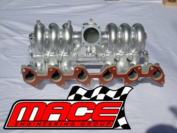 6 Cylinder Intake Manifold : Mace performance mm manifold insulator to suit ford tbi