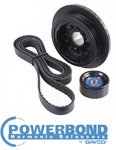 POWERBOND 20% UNDERDRIVE PULLEY KIT FOR HOLDEN ALLOYTEC SIDI LE0 LWR LF1 LFW LLT LFX 3.0L 3.6L V6