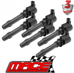 MACE SET OF 6 STANDARD IGNITION COILS FOR FORD FALCON BA BF FG BARRA 182 190 E-GAS 240T TURBO 4.0 I6