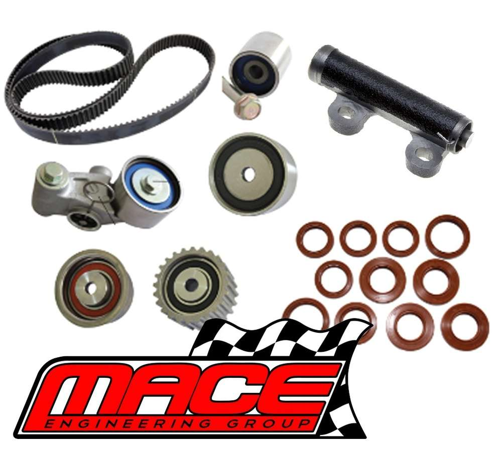 mace full timing belt kit to suit subaru impreza gc gd gm ej207 dohc turbo  2 0l f4 - mace engineering group