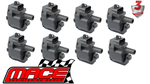 SET OF 8 STANDARD REPLACEMENT IGNITION COILS TO SUIT HOLDEN COMMODORE UTE VU VY VZ LS1 5.7L V8