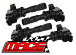SET OF 4 MACE STANDARD IGNITION COILS TO SUIT MAZDA3 BK BL L3 L5 LFDE DOHC TURBO 2.0L 2.3L 2.5L I4