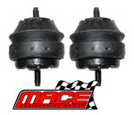 PAIR OF STANDARD ENGINE MOUNTS TO SUIT FORD FALCON BA BF BARRA 182 190 E-GAS 4.0L I6