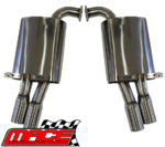 "MACE DUAL REAR 3"" SPORTS MUFFLER TO SUIT HOLDEN COMMODORE VE VF V6 UTE"
