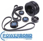 POWERBOND 25% UNDERDRIVE POWER PULLEY KIT TO SUIT HSV MALOO VU VY VZ LS1 LS2 5.7L 6.0L V8
