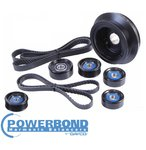 POWERBOND 25% UNDERDRIVE POWER PULLEY KIT TO SUIT HOLDEN L77 LS3 6.0L 6.2L V8