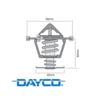 DAYCO 86 DEGREE THERMOSTAT TO SUIT HOLDEN L76 L77 L98 LS3 6.0L 6.2L V8 09/2009 ONWARDS