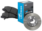 ULTIMA REAR BRAKE PAD SET & DISC BRAKE ROTORS COMBO TO SUIT FORD BARRA BOSS 220 230 260 290 5.4L V8