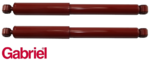 PAIR OF GABRIEL GUARDIAN REAR GAS SHOCK ABSORBERS TO SUIT HOLDEN COLORADO RC RG UTE CAB CHASSIS