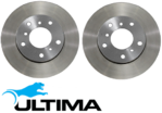 ULTIMA 289MM FRONT & 279MM REAR DISC BRAKE ROTOR SET FOR HOLDEN BUICK ECOTEC L27 L36 L67 S/C 3.8L V6
