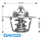 DAYCO 91 DEGREE THERMOSTAT FOR FORD MPFI VCT BARRA 182 190 195 E-GAS ECOLPI 240T 245T 270T 4.0L I6