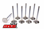 SET OF 8 MACE STANDARD EXHAUST VALVES TO SUIT MITSUBISHI STARWAGON WA SJ 4G63 4G64 2.0L 2.4L I4