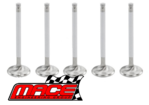 SET OF 5 MACE EXHAUST VALVES TO SUIT TOYOTA LANDCRUISER PZJ70R PZJ73R 1PZ 3.5L I5