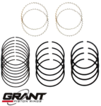 GRANT CAST PISTON RING SET TO SUIT HOLDEN TORANA LC LJ LH LX UC 186 202 RED 3.0L 3.3L I6
