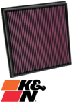K&N REPLACEMENT AIR FILTER TO SUIT HOLDEN ASTRA PJ A20NFT B16SHL B16SHT TURBO 1.6L 2.0L I4