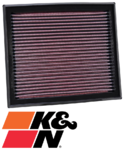 K&N REPLACEMENT AIR FILTER TO SUIT FORD MONDEO MA MB B5254T TURBO 2.5L I5