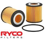 RYCO HIGH FLOW CARTRIDGE OIL FILTER TO SUIT FORD RANGER PX P5AT TURBO DIESEL 3.2L I5
