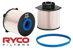 RYCO CARTRIDGE FUEL FILTER TO SUIT HOLDEN Z20S1 Z20D1 A20DTH TURBO DIESEL 2.0L I4