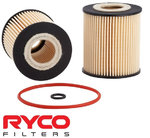 RYCO HIGH FLOW CARTRIDGE OIL FILTER TO SUIT FORD MONDEO MA MB MC DURATEC SEB SEBA 1.8L 2.0L 2.3L I4
