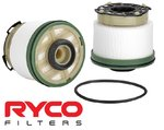 RYCO CARTRIDGE FUEL FILTER TO SUIT FORD P5AT TURBO DIESEL 3.2L I5