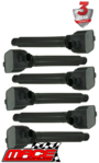 SET OF 6 MACE STANDARD REPLACEMENT IGNITION COILS TO SUIT JEEP GRAND CHEROKEE KL WK ERB 3.6L V6