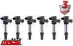 SET OF 6 MACE STANDARD REPLACEMENT IGNITION COILS TO SUIT ALFA ROMEO SPIDER 939 939A0 3.2L V6
