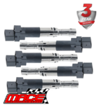 SET OF 5 MACE STANDARD REPLACEMENT IGNITION COILS TO SUIT VOLKSWAGEN GOLF MK.4 AQN 2.3L V5