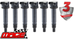 SET OF 6 MACE STANDARD REPLACEMENT IGNITION COILS TO SUIT TOYOTA PRADO GRJ120R 1GR-FE 4.0L V6