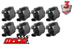 SET OF 8 MACE STANDARD REPLACEMENT IGNITION COILS TO SUIT CHEVROLET SUBURBAN 1500 LC9 LMG 5.3L V8