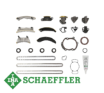 INA TIMING CHAIN KIT WITHOUT GEARS TO SUIT SAAB 9-5 ALLOYTEC A28NET TURBO 2.8L V6