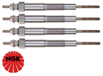 SET OF 4 NGK GLOW PLUGS TO SUIT MAZDA6 GG GH GY RF R2T TURBO DIESEL 2.0L 2.2L I4