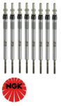SET OF 8 NGK GLOW PLUGS TO SUIT LAND ROVER RANGE ROVER L322 368DT TURBO DIESEL 3.6L V8