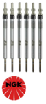 SET OF 6 NGK GLOW PLUGS TO SUIT LAND ROVER DISCOVERY 3 L319 276DT TURBO DIESEL 2.7L V6