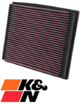 K&N REPLACEMENT AIR FILTER TO SUIT AUDI S4 B5 AGB AZB TWIN TURBO 2.7L V6