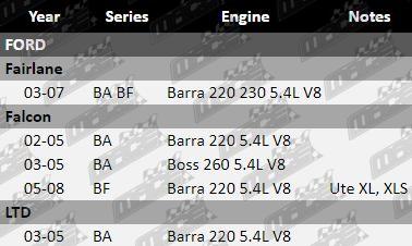 ULTIMA FRONT BRAKE PAD SET FORD LTD BA BF BARRA 220 230 5.4L V8